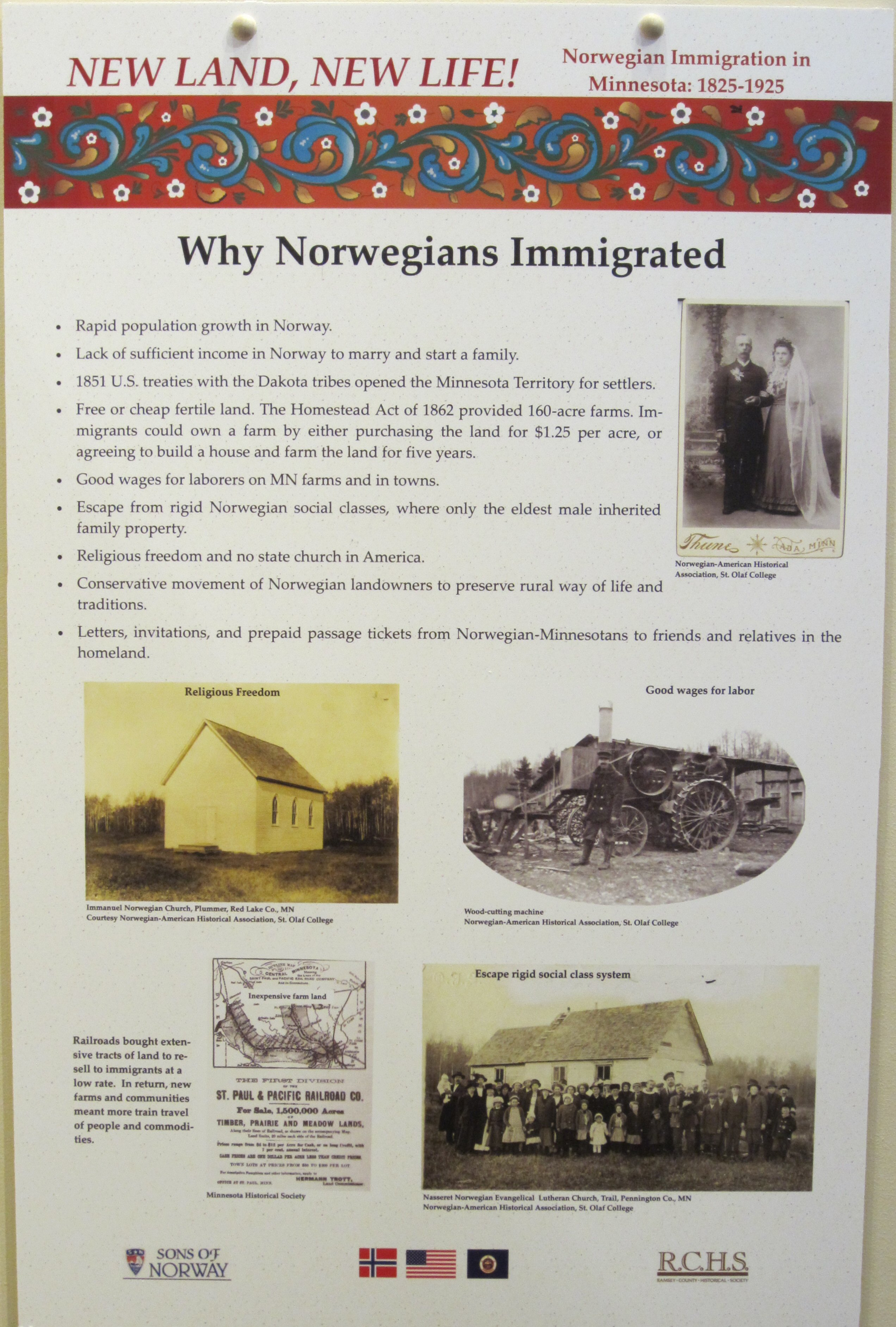 NL NL Why Norwegians Immigrated